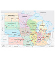 map midwest united states vector image
