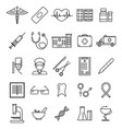 medical healthcare black thin line icon set vector image vector image