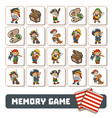 memory game for children cards with pirate vector image vector image