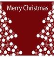 Merry Christmas balls tree garland vector image vector image
