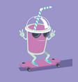 milk shake character vector image vector image