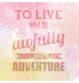 motivational quote on watercolor background to vector image vector image