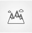 mountain icon sign symbol vector image vector image