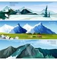 Mountain Landscapes Banner Set vector image vector image