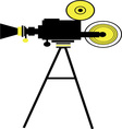 Movie Camera Action vector image vector image