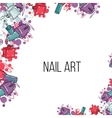 nail lacquer bottles vector image vector image