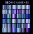 neon blue fluorescent aquamarine metallic foil vector image