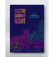 Night party electro sound vector image vector image