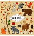 north forest animals vector image