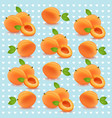 peach retro pattern background vector image