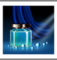 perfume aromatic liquid promotional banner vector image vector image