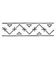 persian design is a border design vintage vector image vector image