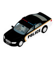 police car isometric view isolated on blue vector image vector image