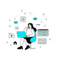 programming concept with woman vector image