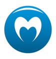 prophetic heart icon blue vector image