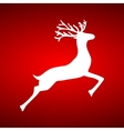 Reindeer on red background vector image vector image