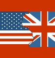 relationships between usa and united kingdom vector image vector image