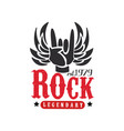 rock legendary est 1979 logo design element vector image