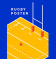 rugby sport poster vector image