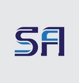 s and a - initials or logo sa or 5a - monogram or vector image vector image