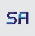 s and a - initials or logo sa or 5a - monogram vector image