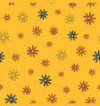scattered blooms seamless repeat pattern vector image vector image