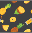seamless pattern with pineapples pineapple vector image