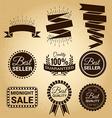 set labels vintage for sale concept vector image vector image