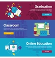 Set of flat design concepts for graduation vector image