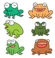 set of frog vector image