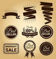 Set of labels vintage for sale concept vector image vector image