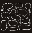 set sketched speech bubbles vector image vector image