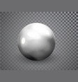 silver chrome metal ball realistic isolated on vector image