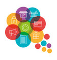 social marketing flat icons vector image