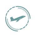 Symbol of airplane vector image vector image