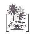 Tropical Palm Banner for Tourism vector image vector image