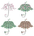 Umbrella Shape Tree vector image vector image