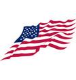 us waving flag vector image vector image