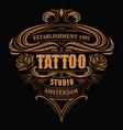 vintage logo for tattoo studio