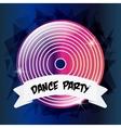 Vinyl icon Electro Party design graphic vector image vector image