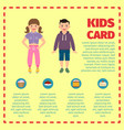 Yellow kids card infographic template l