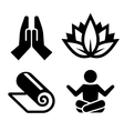 yoga icons set for spa center vector image