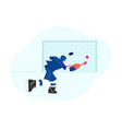young hockey player character in team uniform vector image vector image