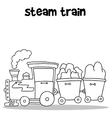 Hand draw of steam train vector image