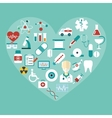 Set of Flat Medical Icons Modern Concept vector image