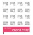 Credit card icon set vector image