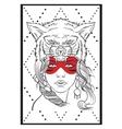 Native american girl vector image