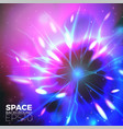 space background with bright lights of plan vector image