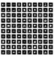 100 security icons set grunge style vector image vector image