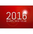 a happy new year 2016 vector image vector image